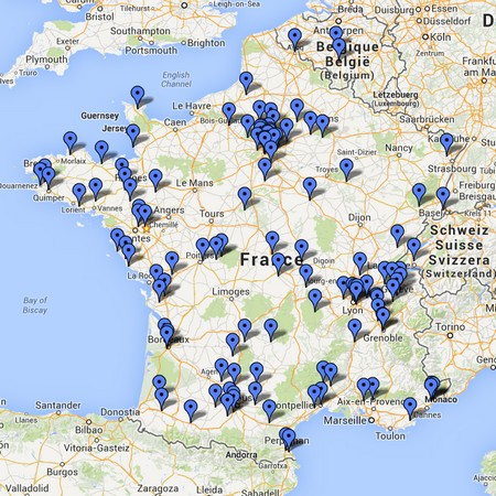 Carte des éducateurs canins en méthode positive